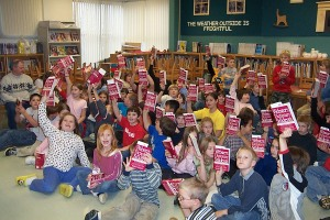 Guilford Primary Third Graders Wave Their New Dictionaries (2005)