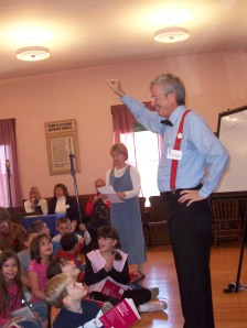 Students visit Valley Grange and learn about RFD while getting dictionaries (2007)