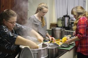 Public Suppers by volunteers raise funds for worthy causes.