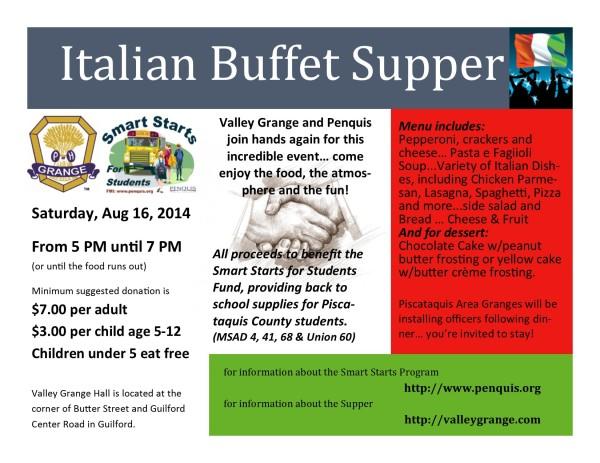 Italian Buffet Postcard